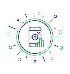 Seo phone line icon search engine optimization vector