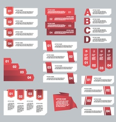 Set of Infographic design options concept Template vector image
