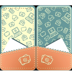 Set seamless pattern of email vertical layout vector image
