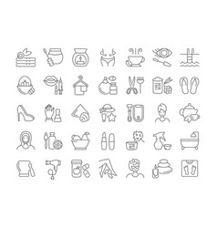 Set simple icons health and beauty vector
