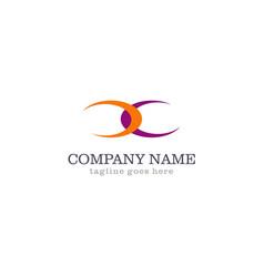 shape curve company logo vector image