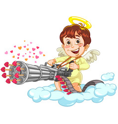 shooting little baby angel vector image
