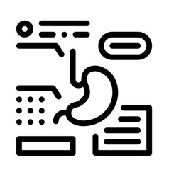 Stomach analysis icon outline vector