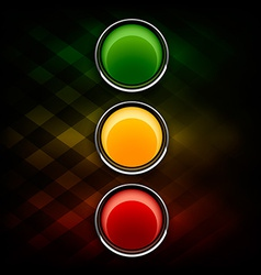 Stoplight vector image