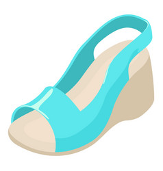 Stylish shoe icon isometric style vector