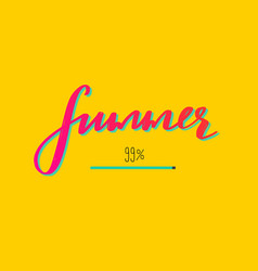 summer hand drawn lettering concept vector image