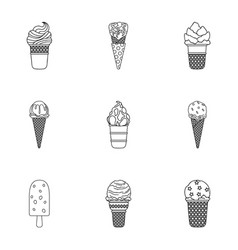 Summer sweets ice cream ice fruit milk ice vector