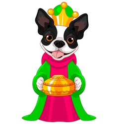 The Boston terrier as a Biblical Magi vector image