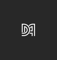 Two letters monogram logo da or ad initials vector