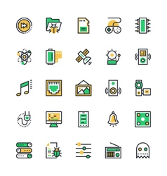 User Interface and Web Colored Icons 10 vector