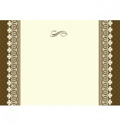 Vintage lace frame vector