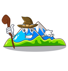 Witch mountain scenery isolated from the mascot vector
