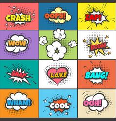 comic pow bubbles vector image vector image