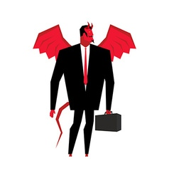 Devil businessman Satan is boss of hell Lucifer in vector image vector image