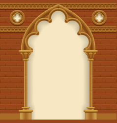 gothic arch and wall vector image vector image