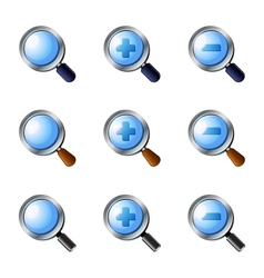 Realistic Zoom icons set vector image