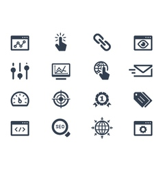 Seo and optimization icons vector image