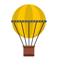 Air balloon journey icon isolated vector