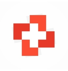 medical cross logo or icon vector image vector image
