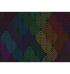 Spirals seamless pattern vector image
