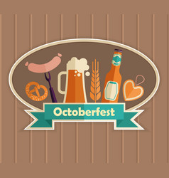 the emblem of the oktoberfest beer festival vector image