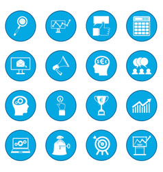 business banking and office icon blue vector image