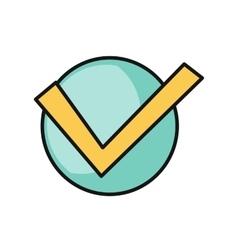 Check Mark Round Icon vector image