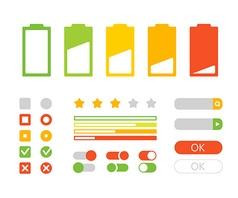 Different interface design Flat design elements vector image