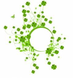 four leaf clover vector image vector image