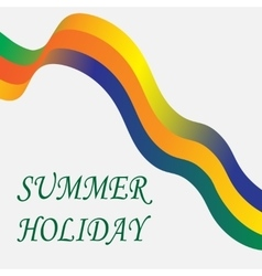 Inscription summer holiday Tape on a white vector image
