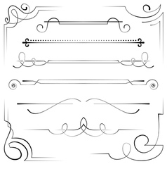 set of corners and bookplate vector image