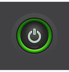 glossy dark circle power button vector image