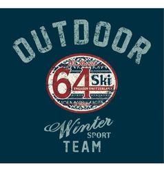 Saint Moritz winter ski team vector image