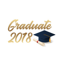 2018 graduation poster template vector