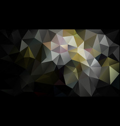 Abstract irregular polygon background black gold vector