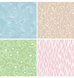 abstract seamless patterns vector image