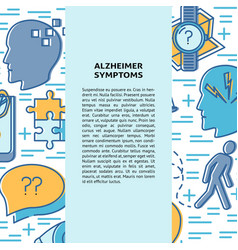 Alzheimer s disease concept banner template in vector