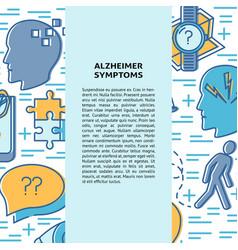 alzheimer s disease concept banner template vector image