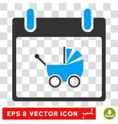 Baby Carriage Calendar Day Eps Icon vector