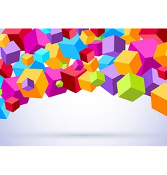 Background with colorful cubes vector image