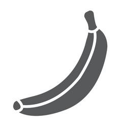 banana glyph icon fruit and vitamin tropical vector image