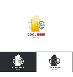 beer logo nine vector image