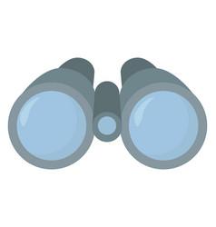 binoculars on white background vector image