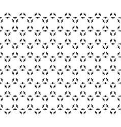 Black prickly figures floral pattern vector