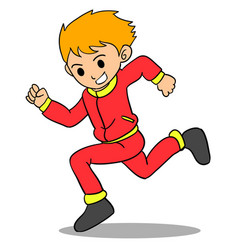 Boy running character style design vector