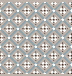 Brown beige white blue geometric pattern vector