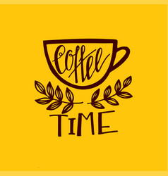 but first coffee lettering vector image