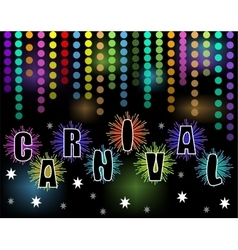 Carnival black billboard with rainbow confetti and vector
