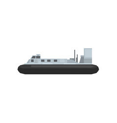 Cartoon naval combat ship nautical marine boat vector