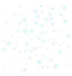 christmas falling snow isolated on white vector image